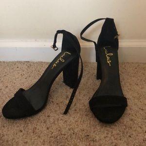 Black lulus heels